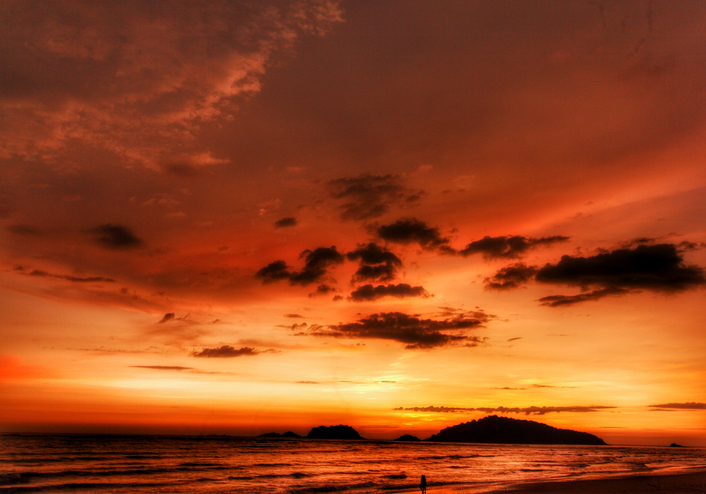 Sunset at Karwar beach, Karnataka, India