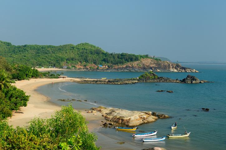 Popular Om beach in Gokarna