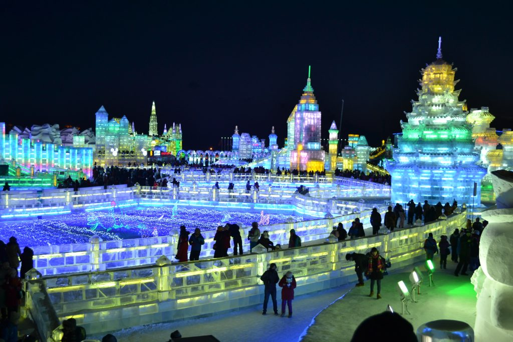 International Ice Festival, Harbin, China during their winter festival.