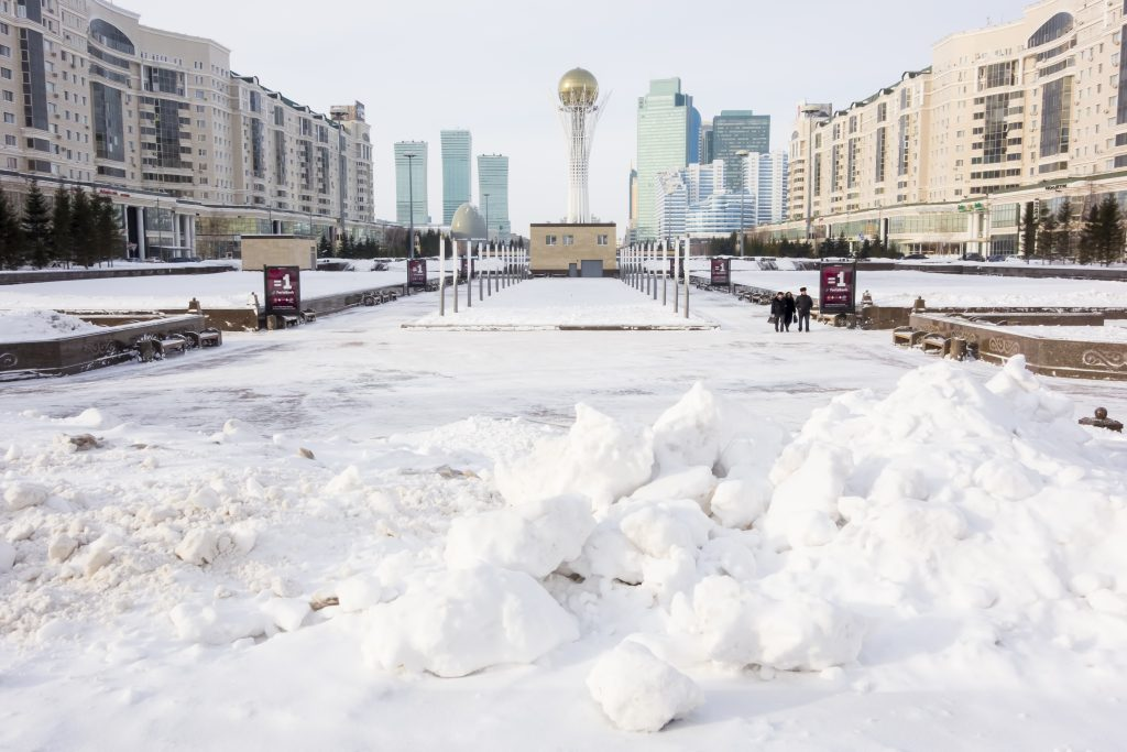 Astana city, Kazakhstan is one of the coldest cities in the world