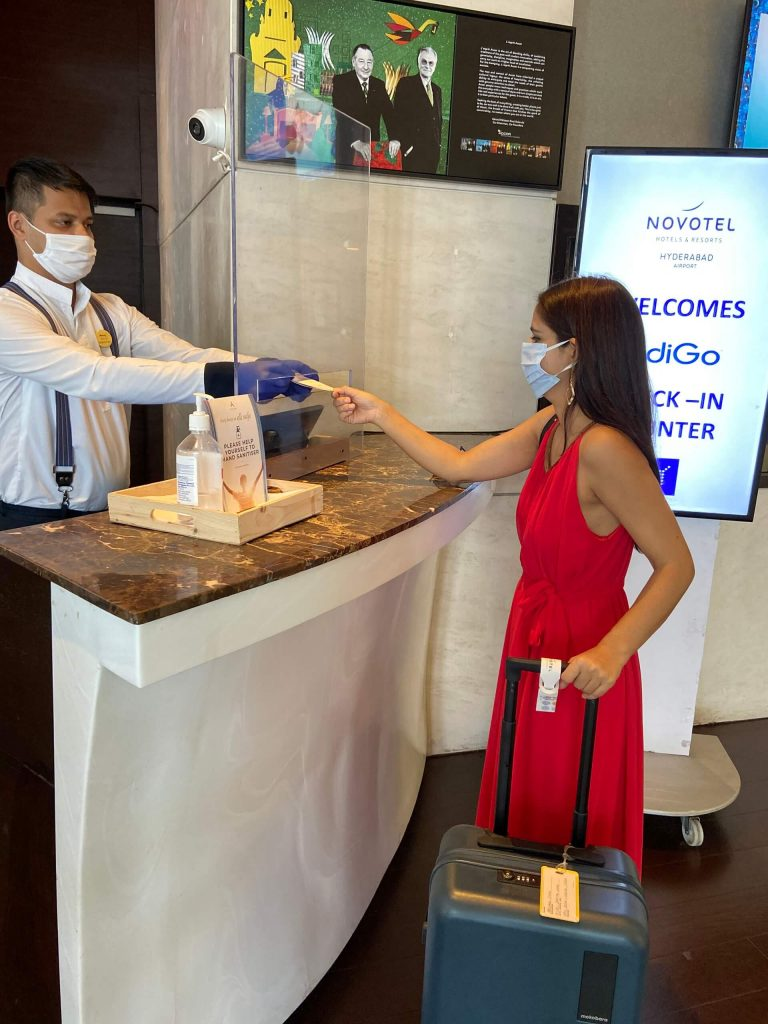Contactless check-in during staycation in Hyderabad at Novotel Airport Hotel
