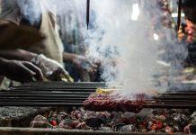 Food stalls on Mosque Road during Ramzan/Ramadan