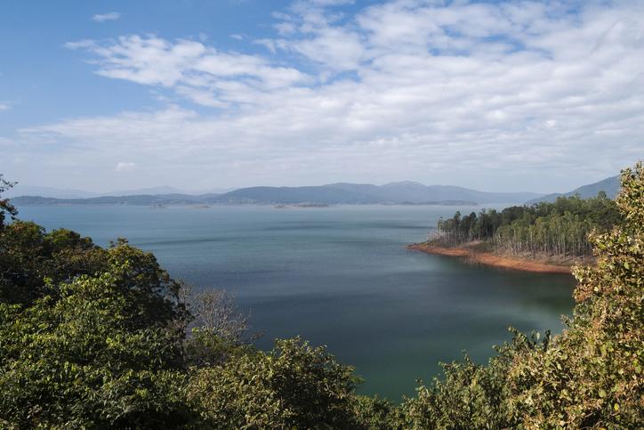 Supa Dam built across Kalinadi or Kali river in state of Karnataka in India
