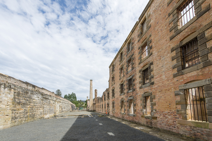 The old abandoned prison town of Port Arthur, is located on the Tasmanian Peninsula, Tasmania, Australia, most haunted places in the world
