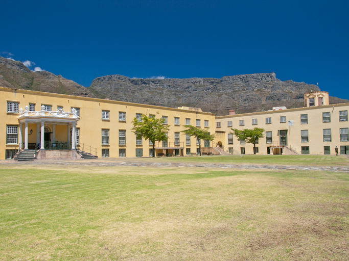 Table Mountain viewed from inside the Castle of Good Hope, most haunted places in the world