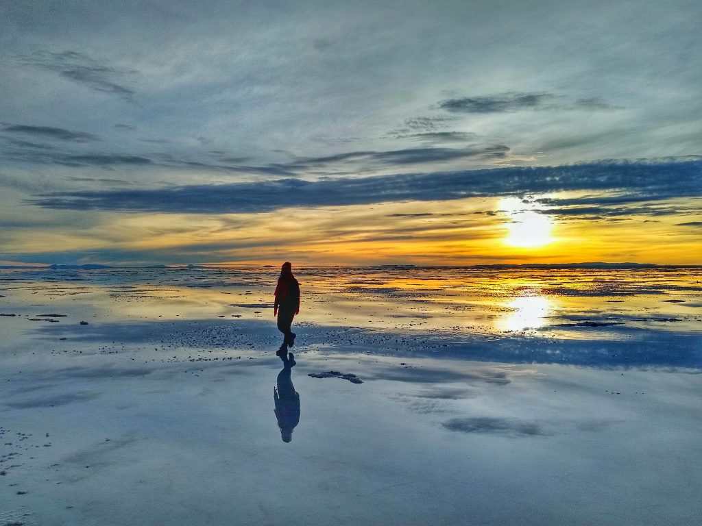 Mirror effect at the Salar de Uyuni