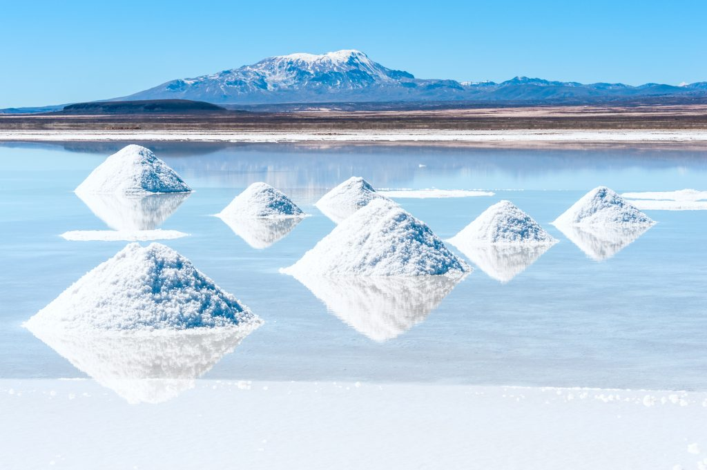 Salt lake Uyuni in Bolivia