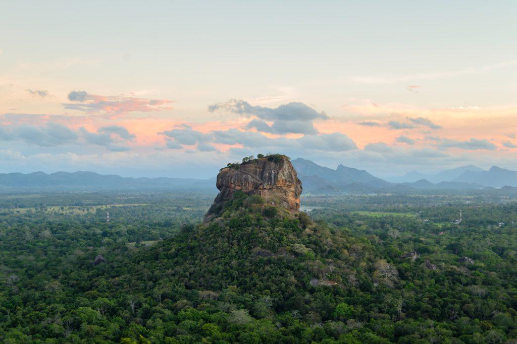 A stunning landscape surrounding the famous rock Sigiriya