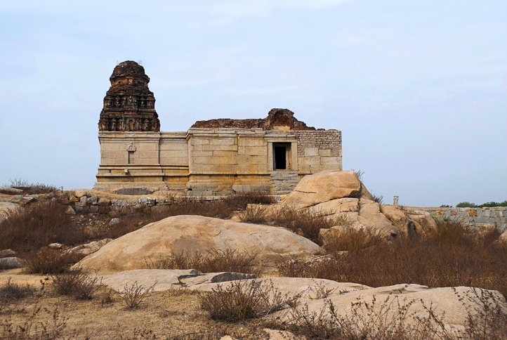 Saraswati Temple near the Octagonal bath, Royal Center or Royal Enclosure