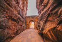 Entrance archway for Shivalaya in Badami