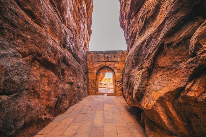 Entrance archway for Shivalaya in Badami