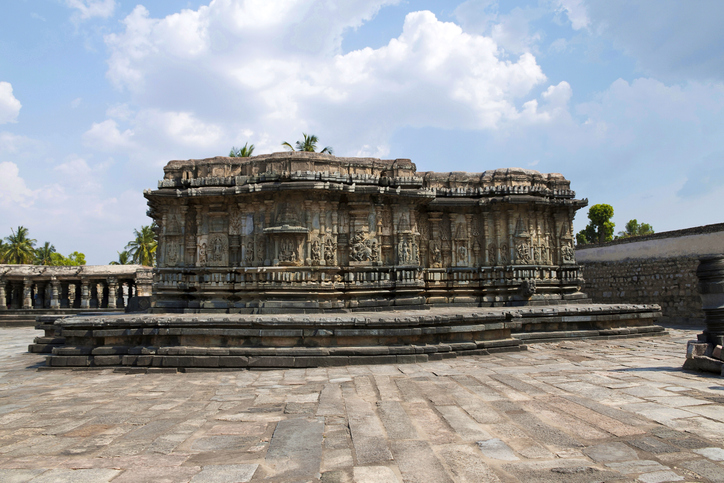 The compact and ornate Veeranarayana temple, Chennakeshava temple complex