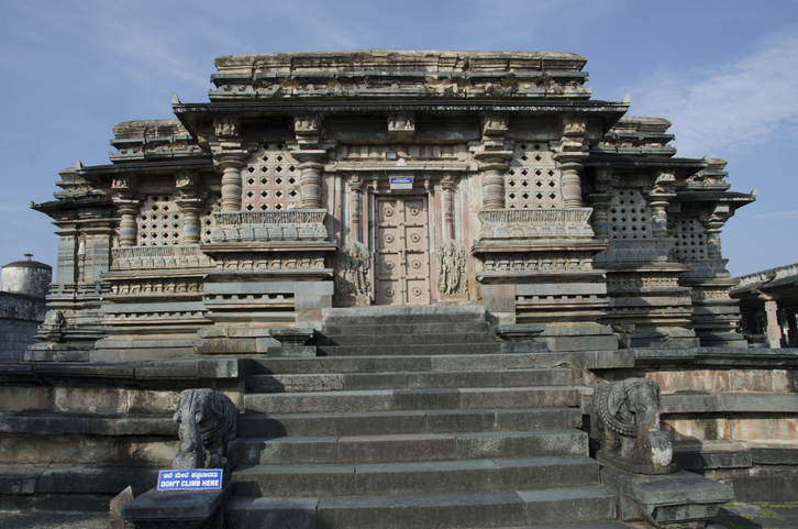Kappe Chennigaraya temple, located in the Chennakeshava complex of temples in Belur