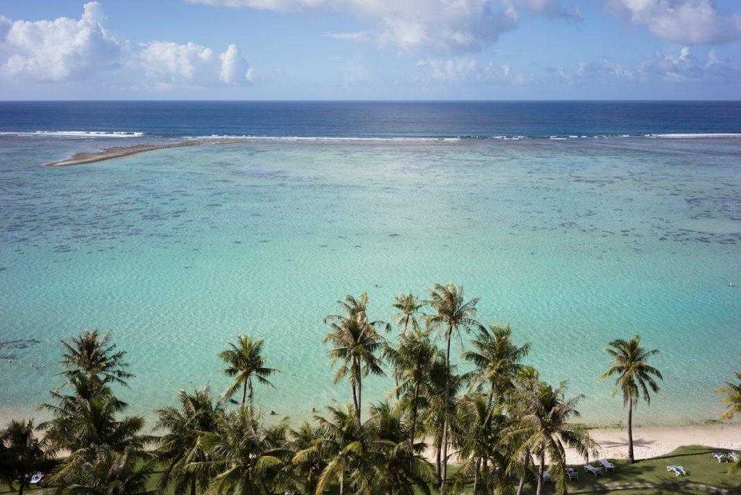 tropical paradise beach in Guam