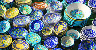 blue pottery of Jaipur, traditional crafts of india