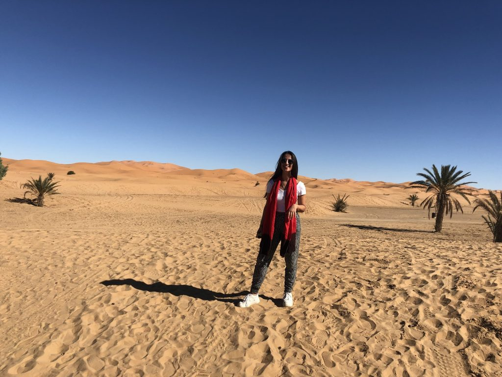 Camping in the Sahara