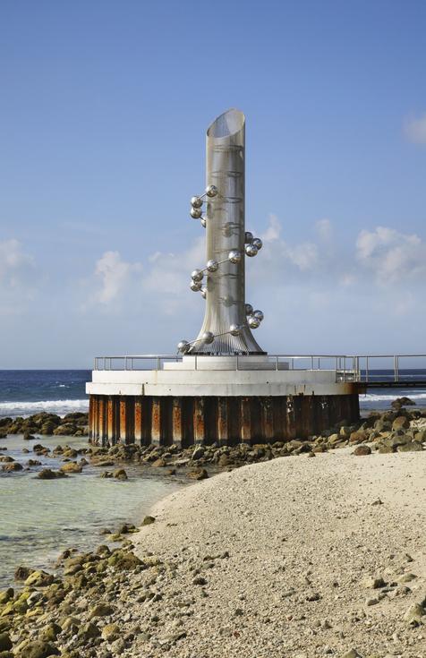 Monument Tsunami Bina in Male. Republic of the Maldives
