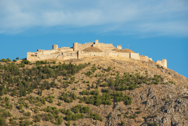 The imposing ruins of the fortress of Larissa in Argos, Greece, oldest cities in the world