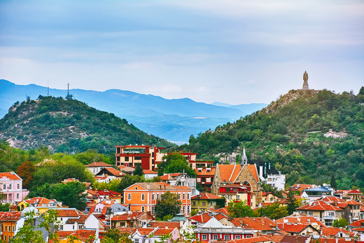 View of Plovdiv, Bulgaria, oldest cities in the world