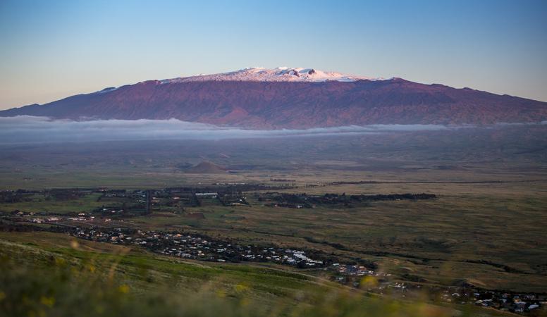 The beautiful and nearly 14,000 foot tall Hawaiian Volcano—Mauna Kea