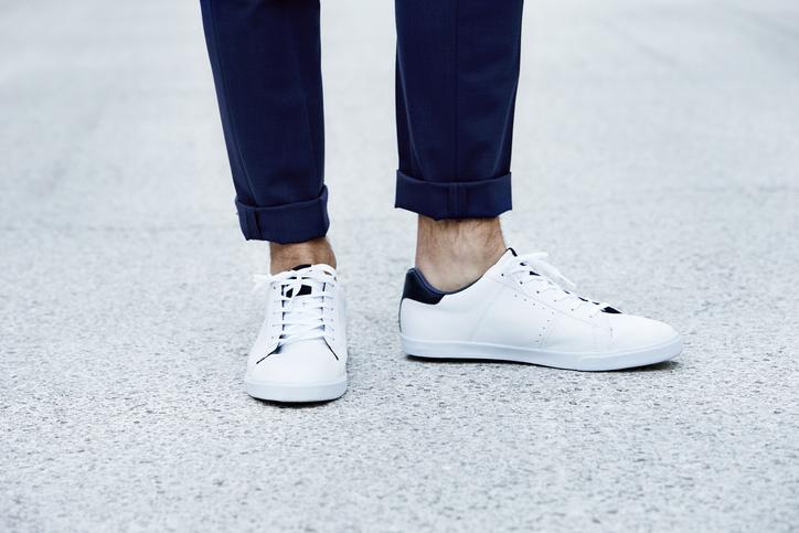 Man wearing sneakers