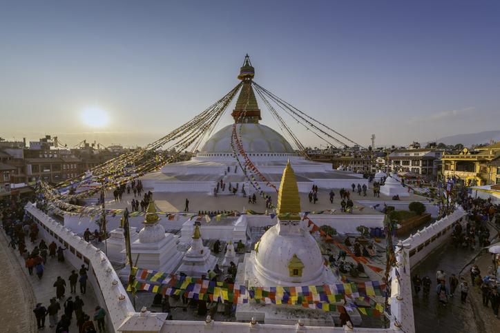 Boudhanath stupa Kathmandu ,Nepal, buddhist temples