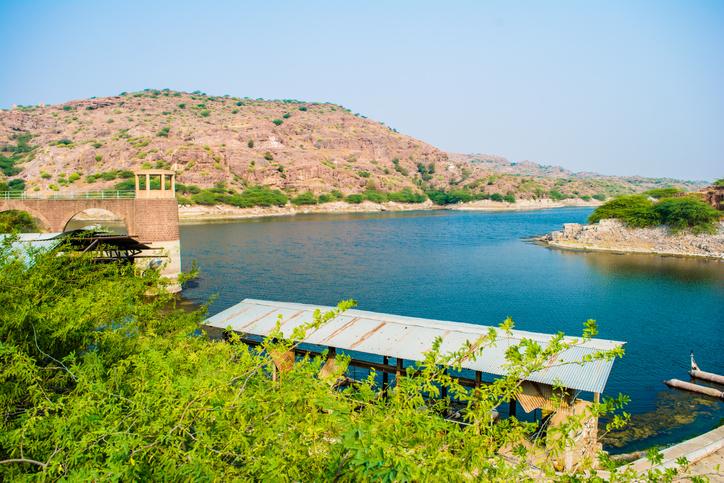 Kaylana Lake Jodhpur in Rajasthan, India. It is an artificial lake, built by Pratap Singh in 1872.