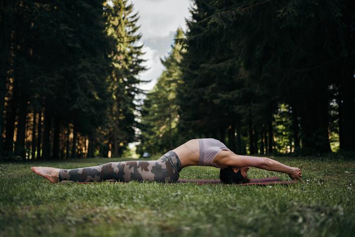fish pose, online yoga classes
