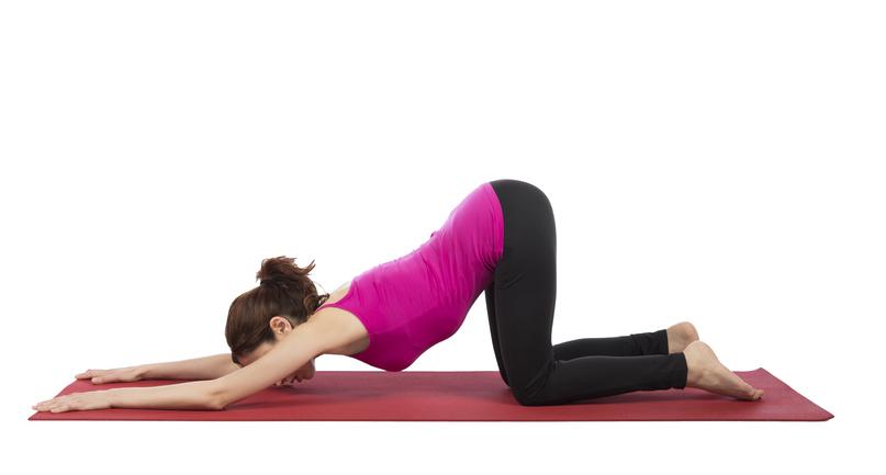 online yoga classes, puppy dog pose