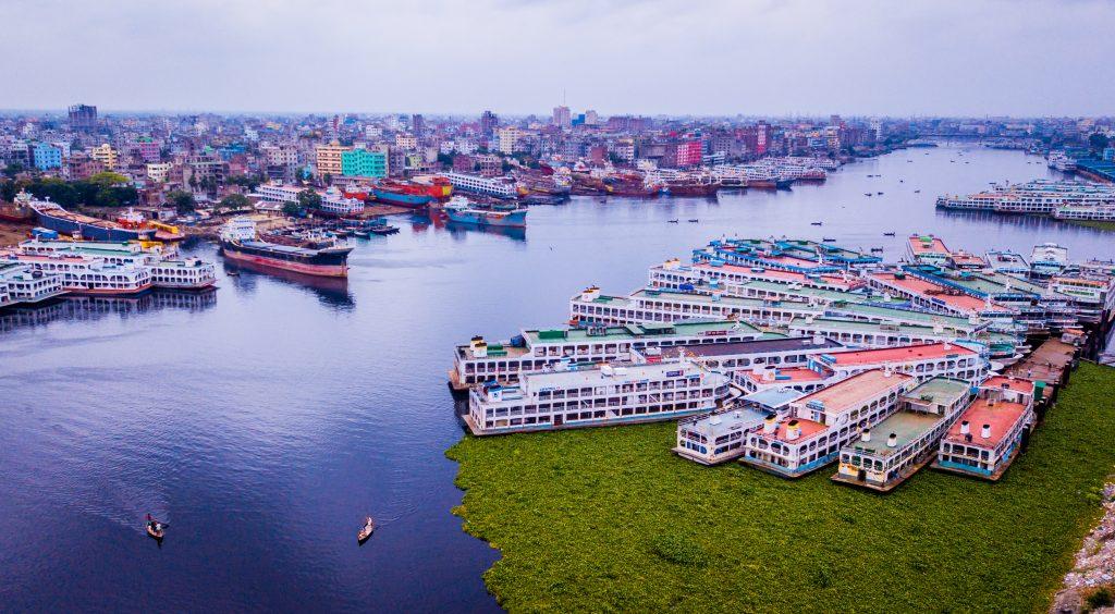 Port of Dhaka, Bangladesh.