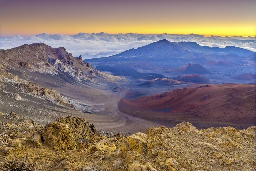 Haleakala National Park at sunrise on  Maui